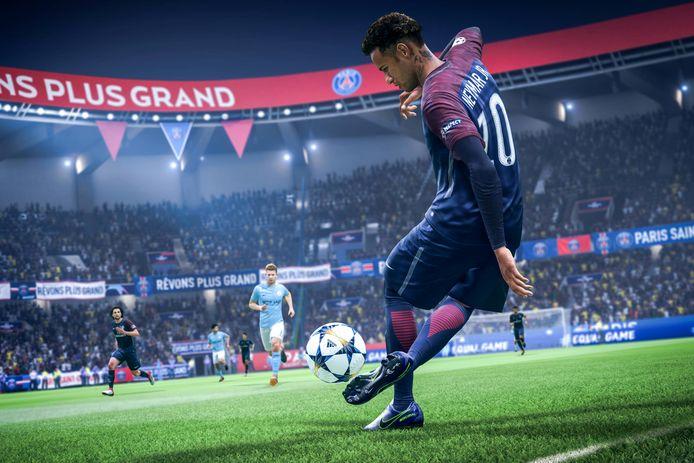 Het computerspel game van EA Sports FIFA.