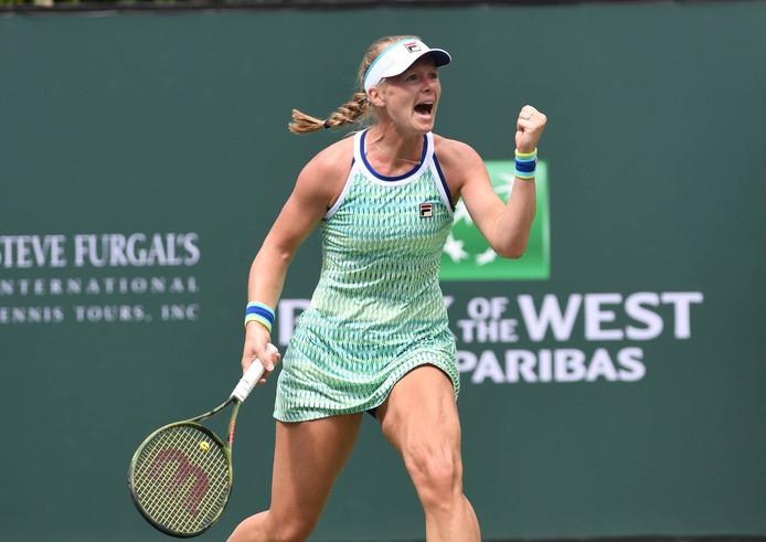Kiki Bertens onlangs op toernooi Indian Wells.
