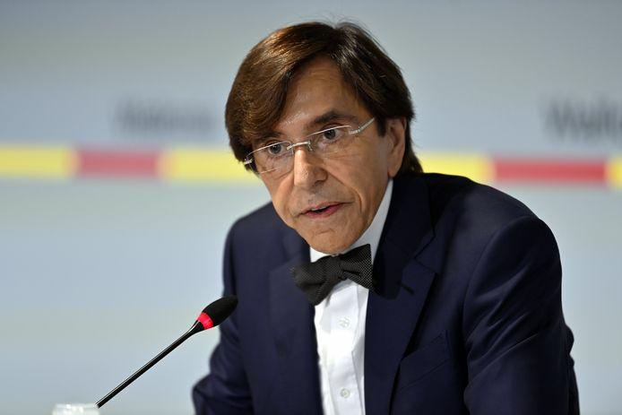 Le ministre-président wallon Elio Di Rupo en conférence de presse à Namur, le 20 juillet 2021.