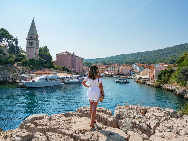 Het plaatsje Veli Losinj aan de Adriatische kunst in Kroatië. Het ministerie van Buitenlandse Zaken ziet weinig bezwaren het land te bezoeken. Beeld Getty Images