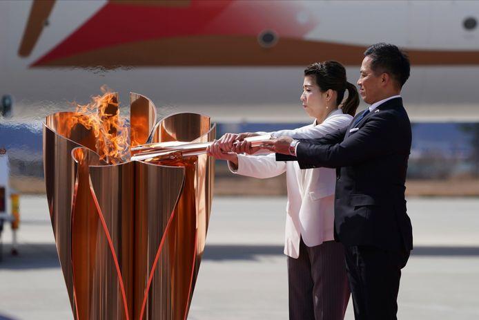 Maart van dit jaar: de olympische vlam arriveert in Japan.