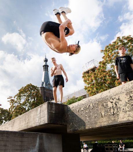 Beljon-fontein omgetoverd tot freerunparadijs: 'De uitdaging is het allerleukst'
