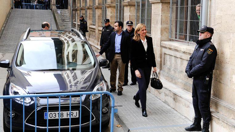 Prinses Cristina arriveert bij de rechtbank. Beeld getty