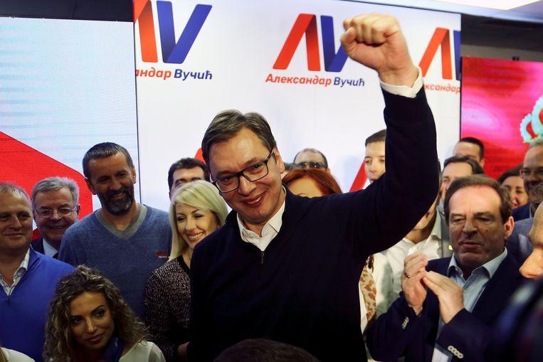 Aleksandar Vucic werd verkozen als president. Beeld REUTERS