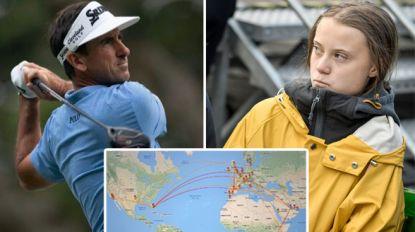 Golfer vergelijkt Greta Thunberg met Hitler en schept op over 50 vluchten die hij dit jaar nam