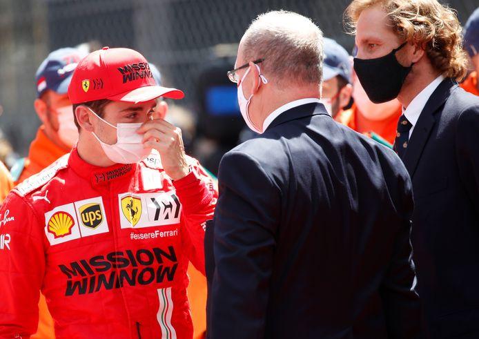 Charles Leclerc et sa Ferrari n'ont pas pris le départ du GP de Monaco.