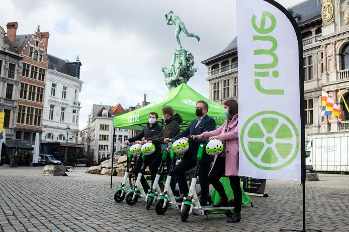 In maart kwamen de deelsteps van Lime naar Antwerpen.
