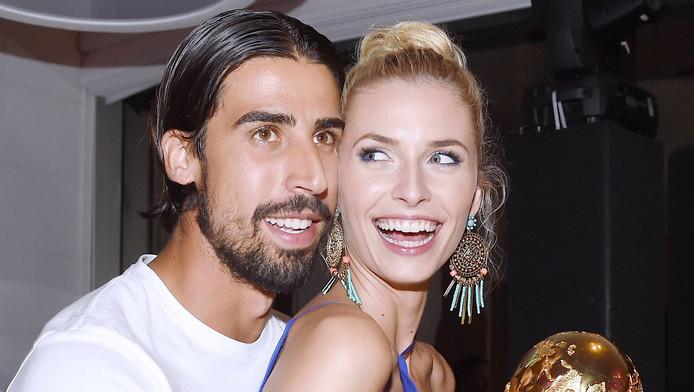 Sami Khedira en zijn vriendin Lena Gercke.