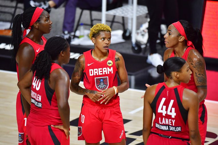 Speelsters van Atlanta Dream. Beeld Getty