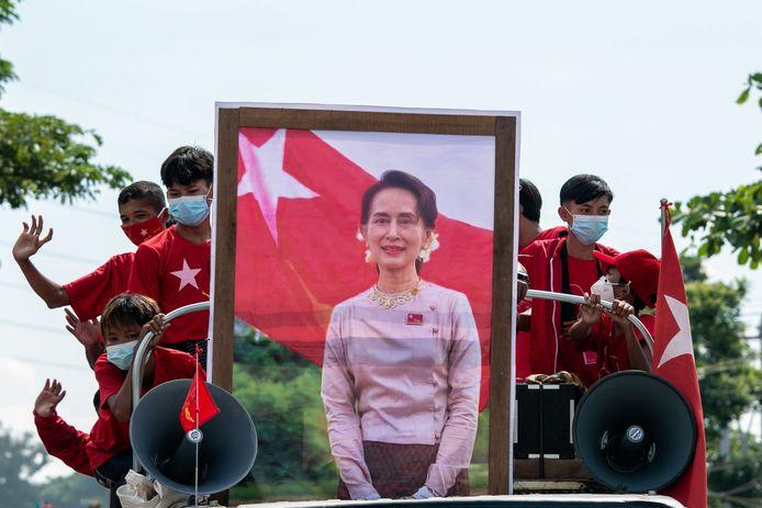 Myanmarese regeringsleidster Aung San Suu Kyi