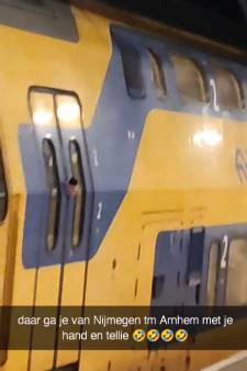Reiziger zit met hand bekneld in rijdende trein tussen Nijmegen en Arnhem, video massaal bekeken