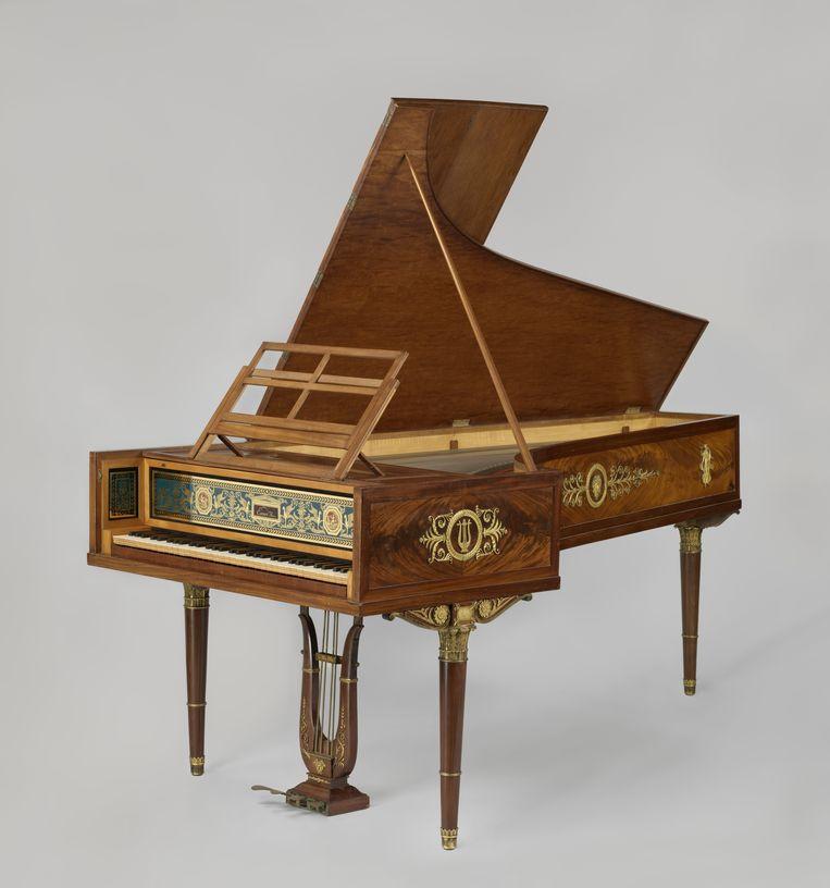 De Érard-vleugel waarop Brautigem speelde is van nagenoeg hetzelfde type als de Érard die Beethoven in 1803 aanschafte. Beeld Rijksmuseum