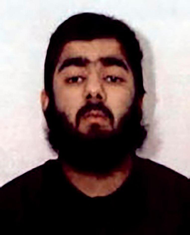 Usman Khan werd gisteren doodgeschoten door de politie. Beeld AP