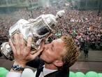 Precies een jaar geleden huldigde Rotterdam bekerwinnaar Feyenoord