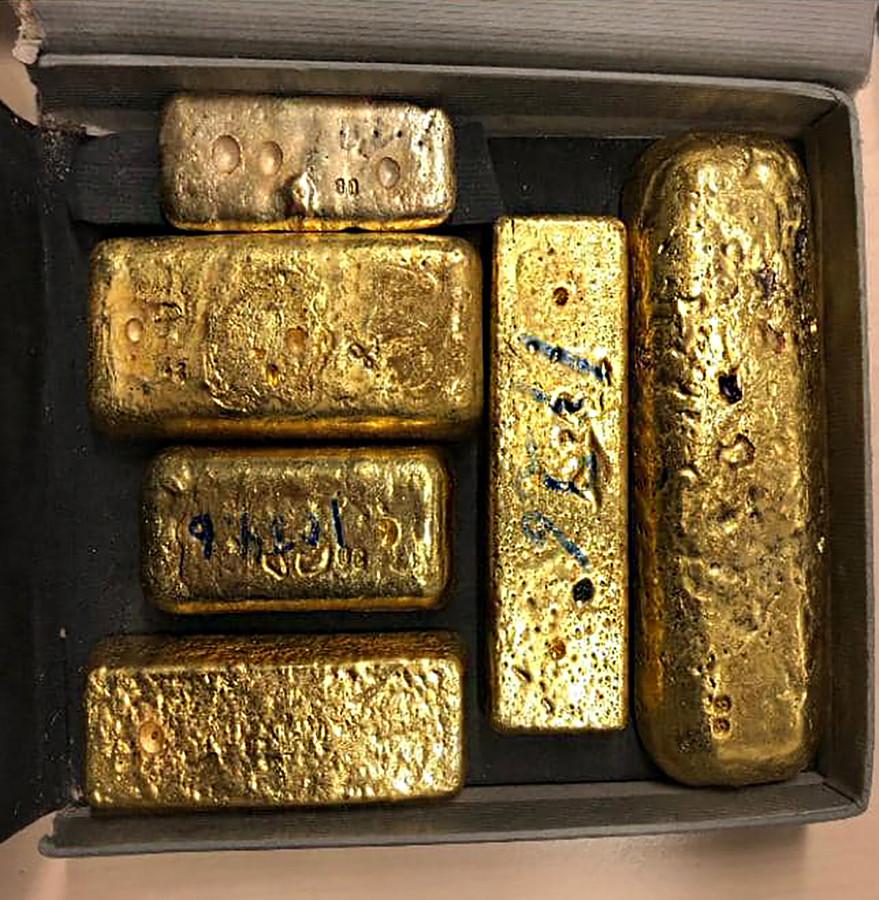 Afgelopen week trof de Koninklijke Marechaussee meerdere kilo's goud aan en duizenden euro's aan losgeld.