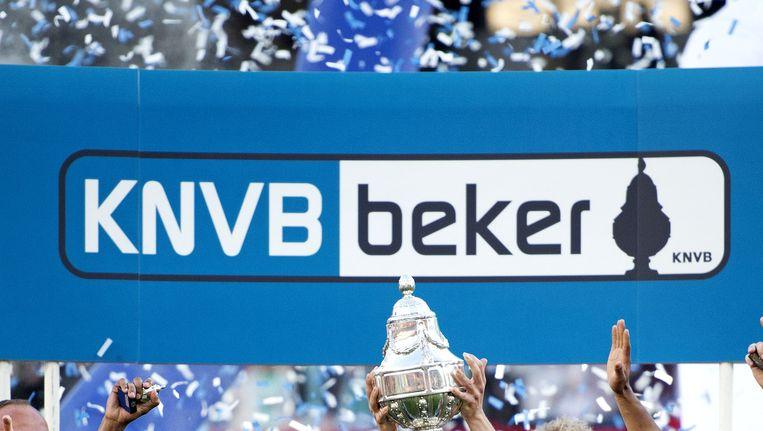 FC Groningen, de recentste winnaar van de KNVB-beker. Beeld null