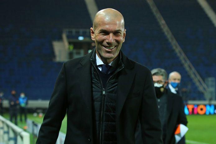 Zinedine Zidane, de coach van Real Madrid.