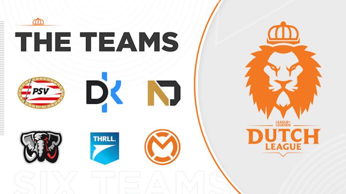 De teams van de Dutch League.