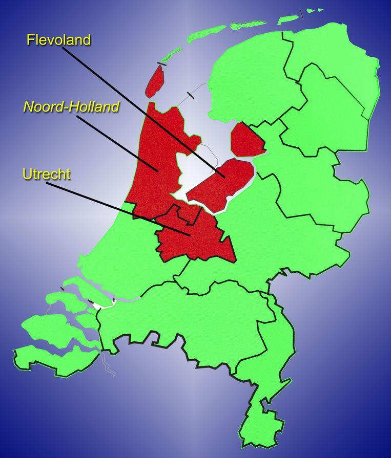 De beoogde superprovincie. Beeld ANP XTRA