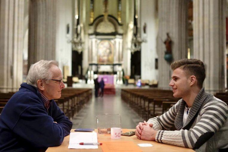 Jong en oud gingen met elkaar in dialoog