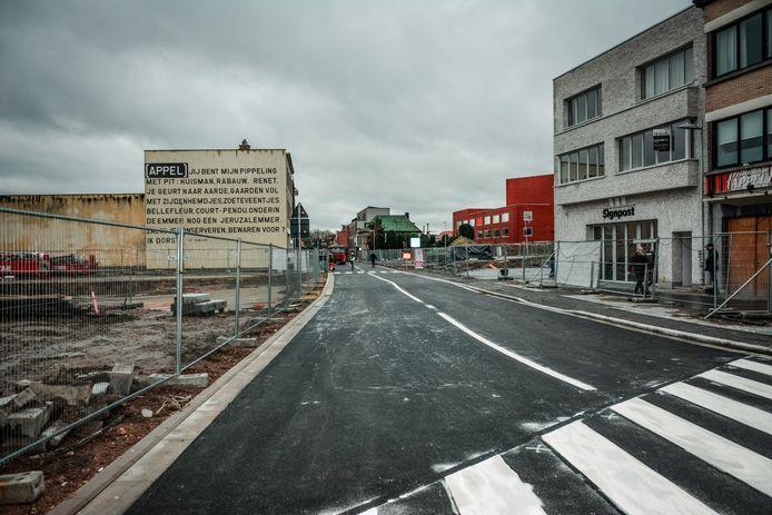 Het nieuwe stuk Magdalenastraat, aan de kant van frituur Appel