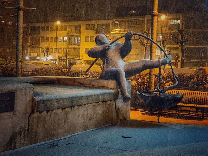 Eerste sneeuwvlokken in Pelt.