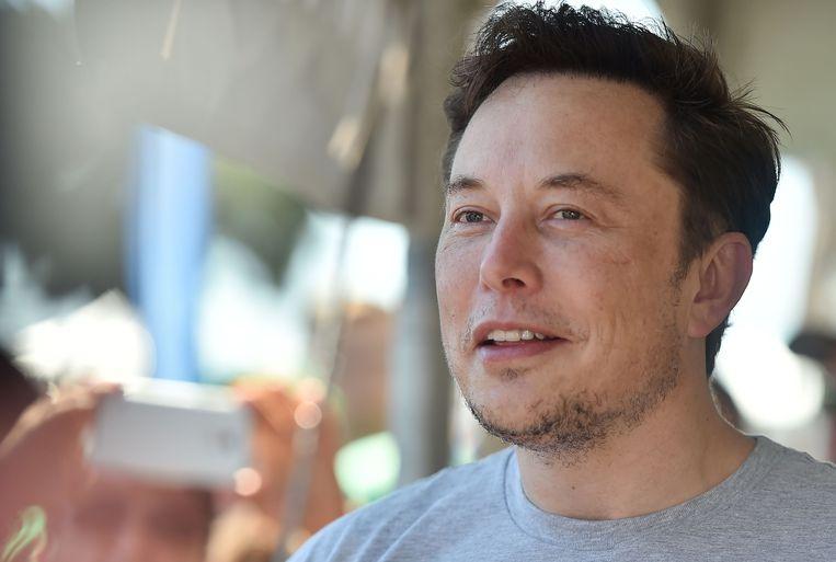Elon Musk, de CEO van Tesla. Beeld AFP