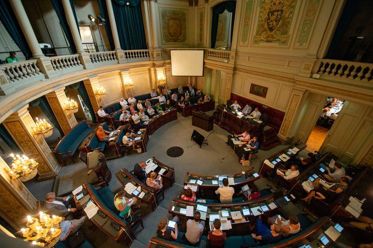 De gemeenteraad in Antwerpen.