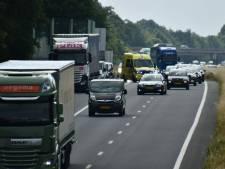 File door aanrijding op de A35 bij Enschede-Zuid