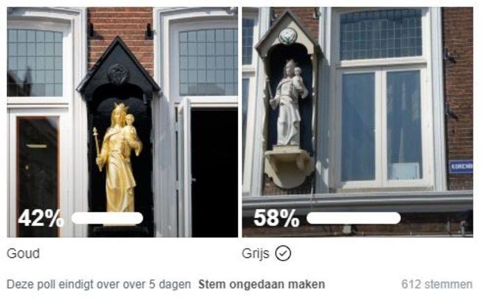 Uitslag poll Mariabeeld op Facebook