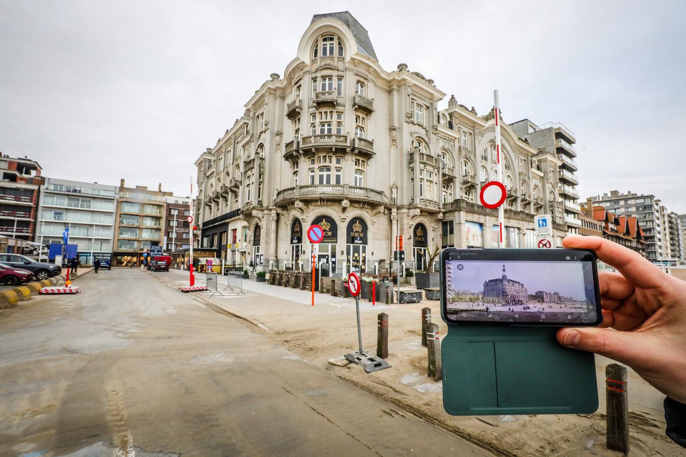 The White Residence zoals het nu is en op de smartphone hoe het er binnen een paar jaar zal uitzien.