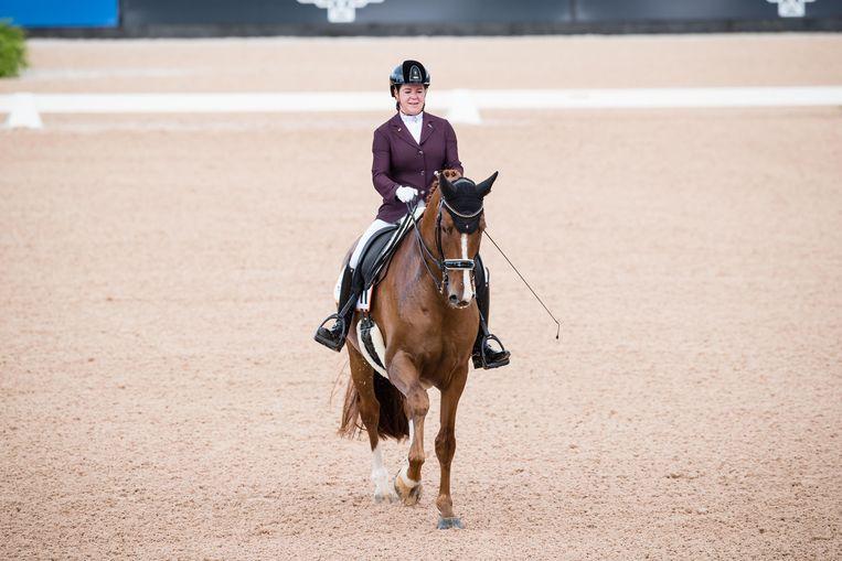 Sanne Voets op haar paard Demantur. Beeld Hollandse Hoogte / Presse Sports