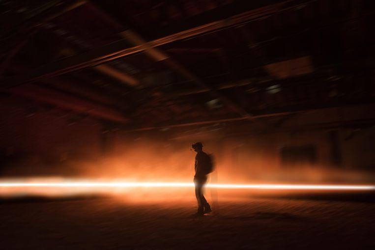 Still uit Carne y Arena van  de Mexicaanse regisseur Alejandro González  Iñárritu. Beeld EPA