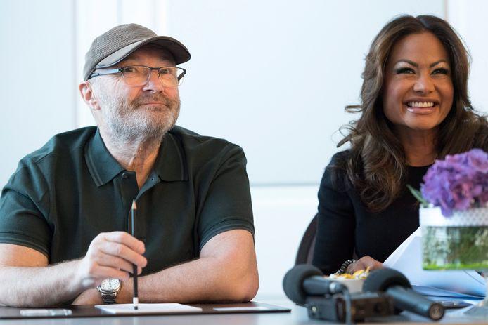 Phil Collins en z'n ex-vrouw Orianne Cevey in betere tijden.
