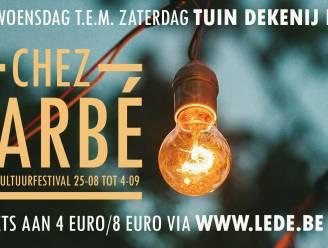Spiksplinternieuw cultuurfestival Chez Barbé in pastorijtuin: (betalend) alternatief voor Camping Cultuur en Volksbal