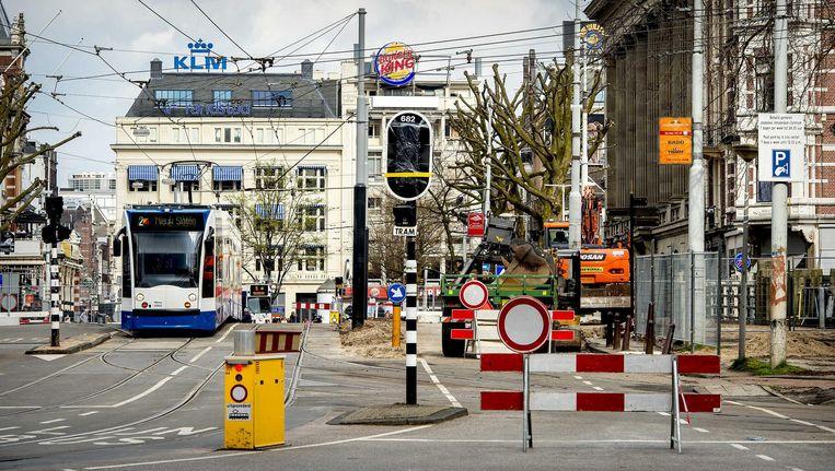 Onder andere de tramrails worden vervangen. Beeld anp