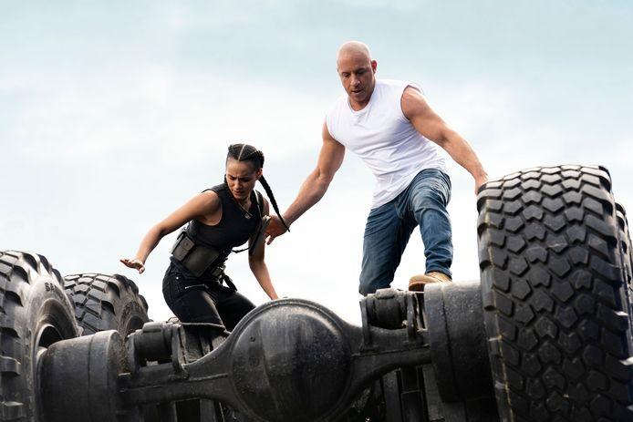 Jordana Brewster en Vin Diesel