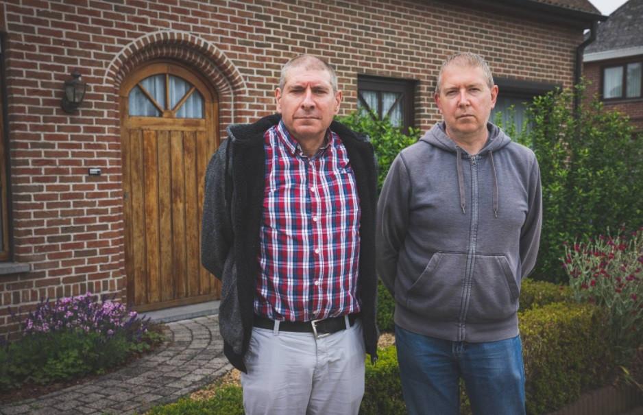 Les fils de la victime, Erwin et Mario De Smet.