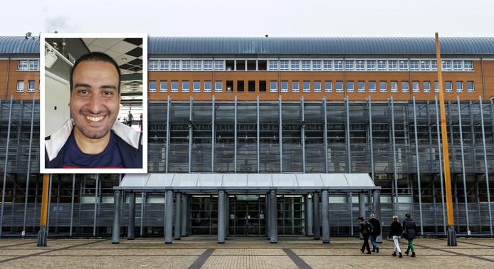 De rechtbank in Den Bosch, met het portret van Yassine Majiti.
