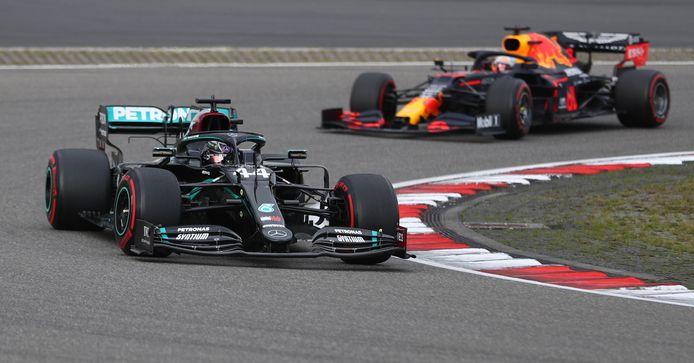 Hamilton en Verstappen.