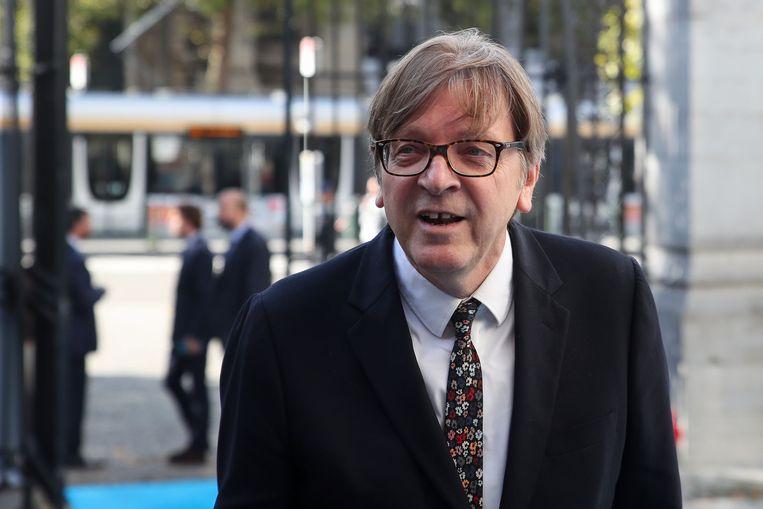 Brexit-coördinator voor het Europees Parlement Guy Verhofstadt. Beeld AFP