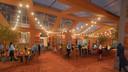 Impressie van de brasserie van de Koepelgevangenis, na verbouwing.