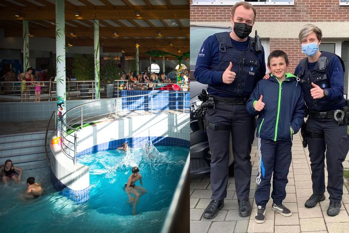 Lucas (9) merkte het kindje op in het zwembad de Waterperels.