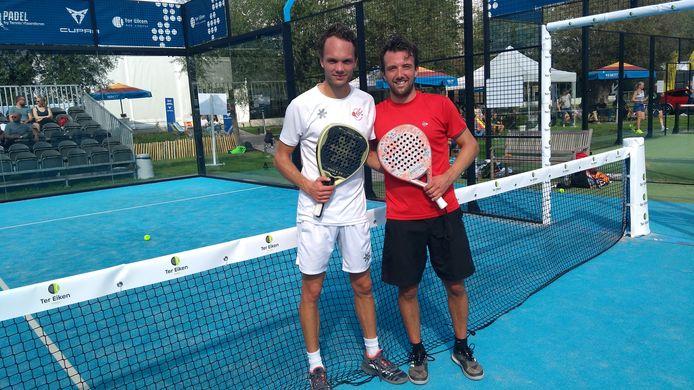 Bram Coene en Joris De Weerdt speelden op Ter Eiken de finale van de Cupra Padel Masters.
