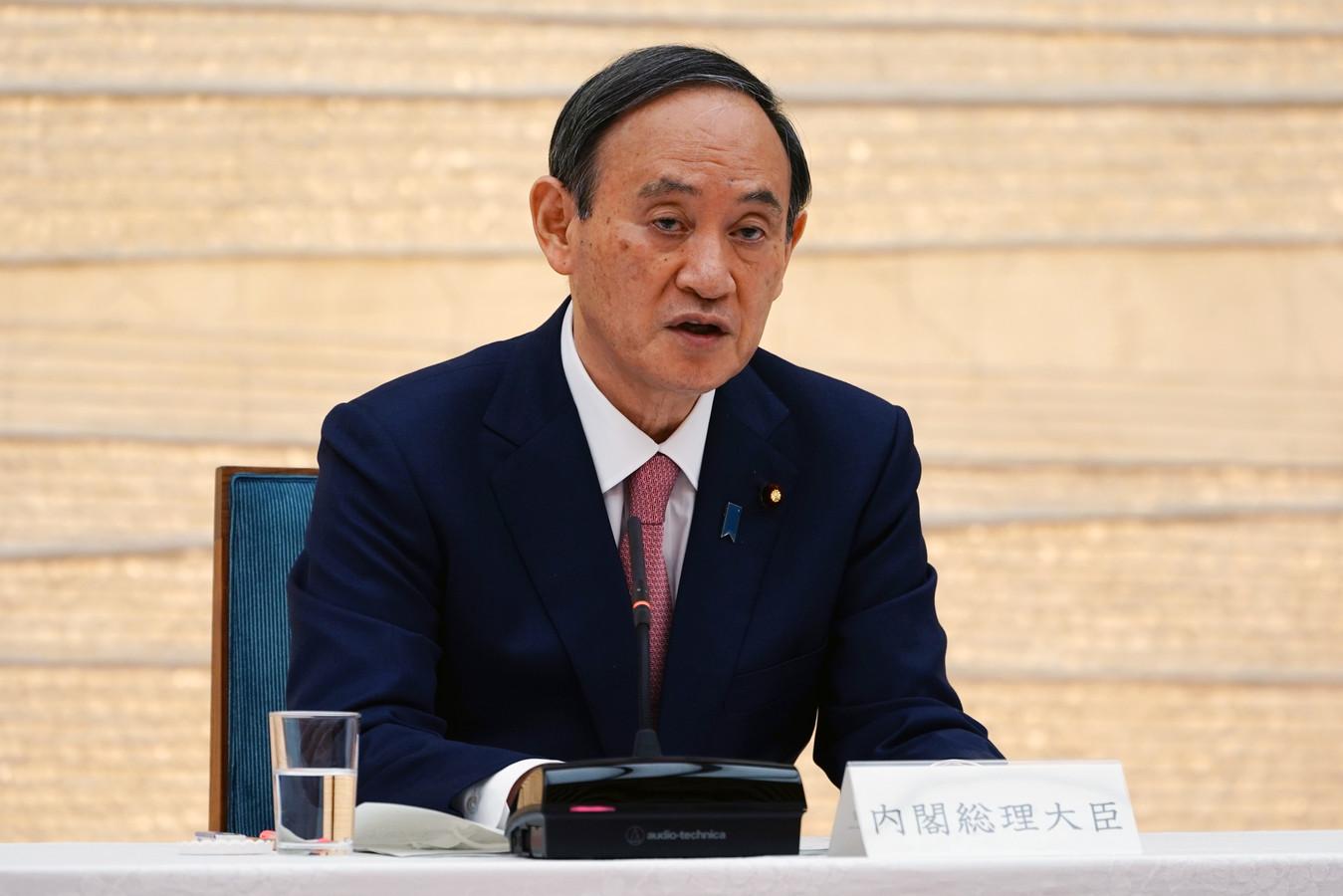 De Japanse premier Yoshihide Suga.