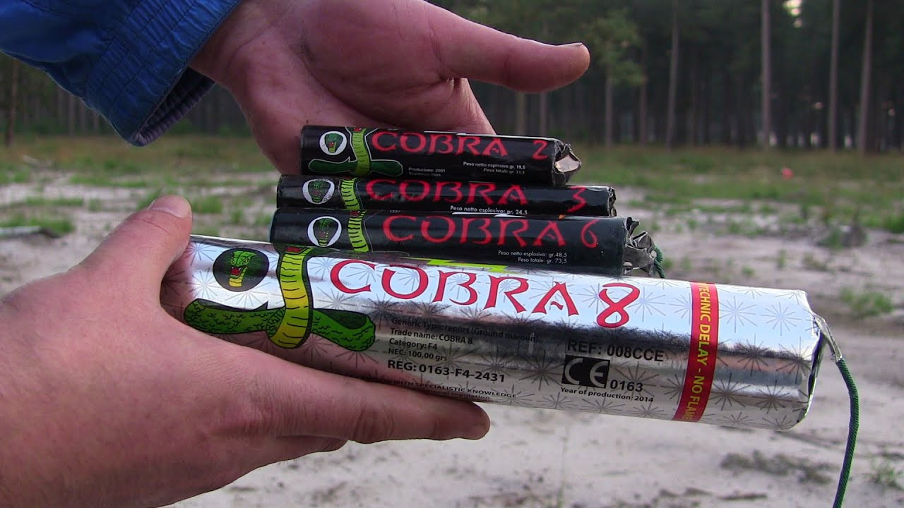 Illegaal vuurwerk; Cobra 6 of 8.