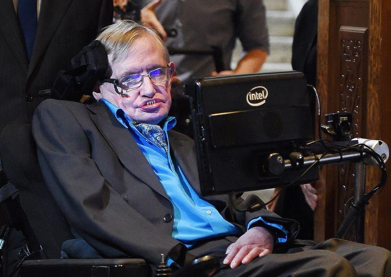 De Britse astrofysicus Stephen Hawking. Beeld EPA