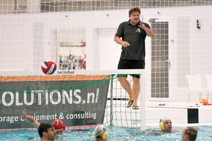 """Coach Mark van Engelen vreesde degradatie niet. ,,De resterende competitieduels zien we als oefenpotjes."""""""