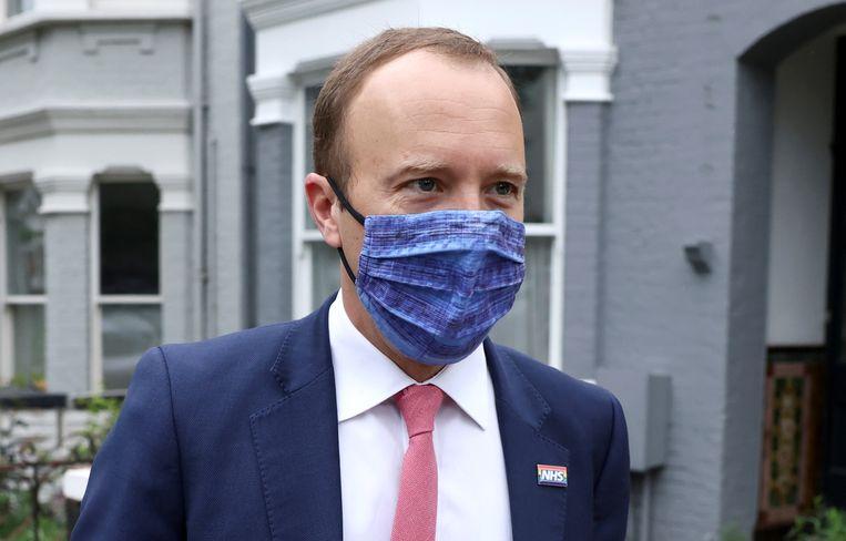 De Britse minister van volksgezondheid Matt Hancock Beeld REUTERS