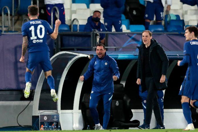 Thomas Tuchel ziet doelpuntenmaker Christian Pulisic een gat in de lucht springen.